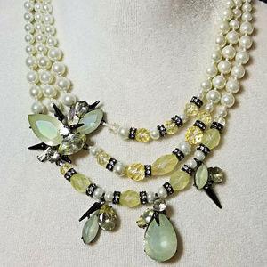 Erickson Beamon Rocks Spike Swarovski Necklace~NWT